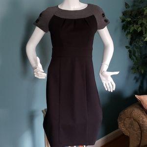 Spense Black & Grey Short Sleeve Knit Dress Sz 4
